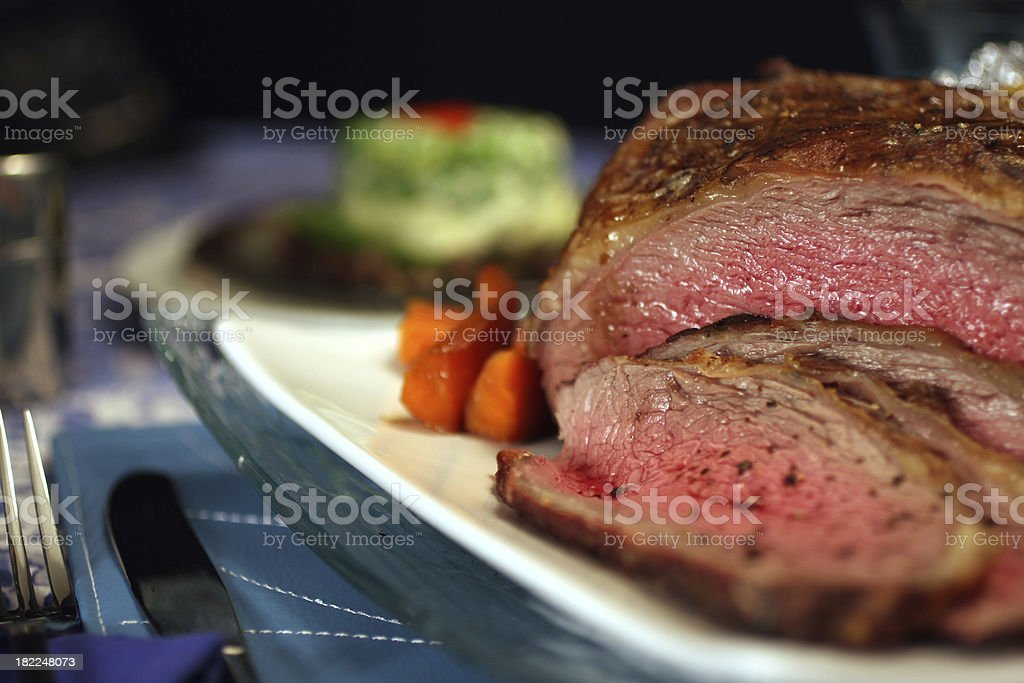 Juicy Piece of Meat royalty-free stock photo