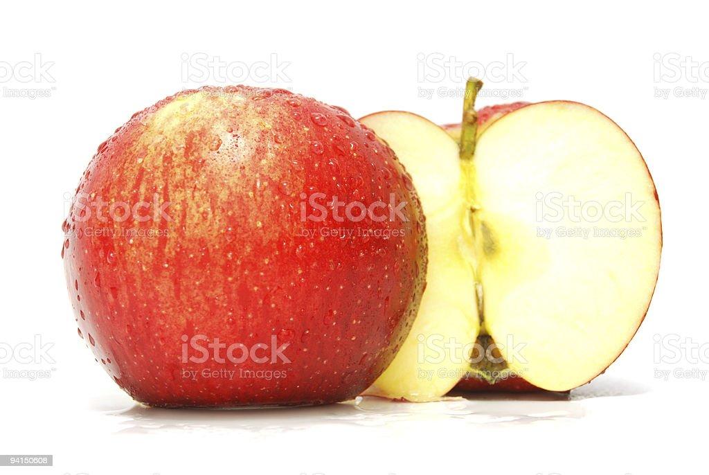 juicy red apple stock photo
