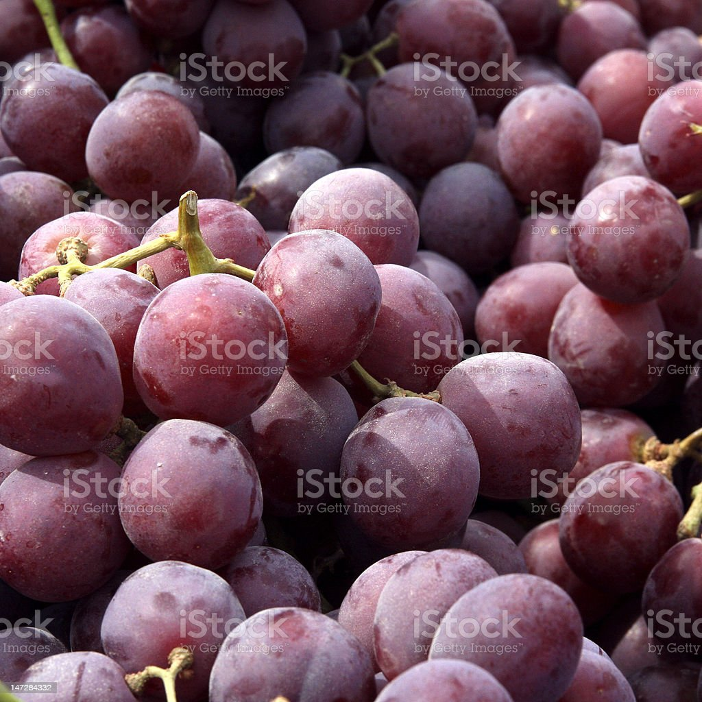 Juicy red grapes royalty-free stock photo