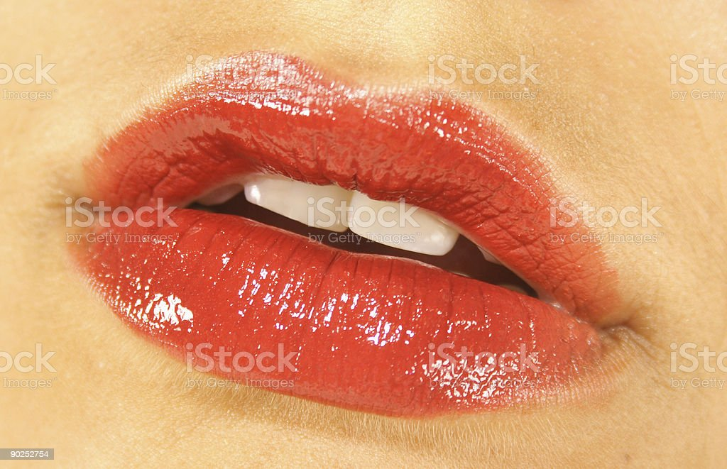 Juicy Red Lips royalty-free stock photo