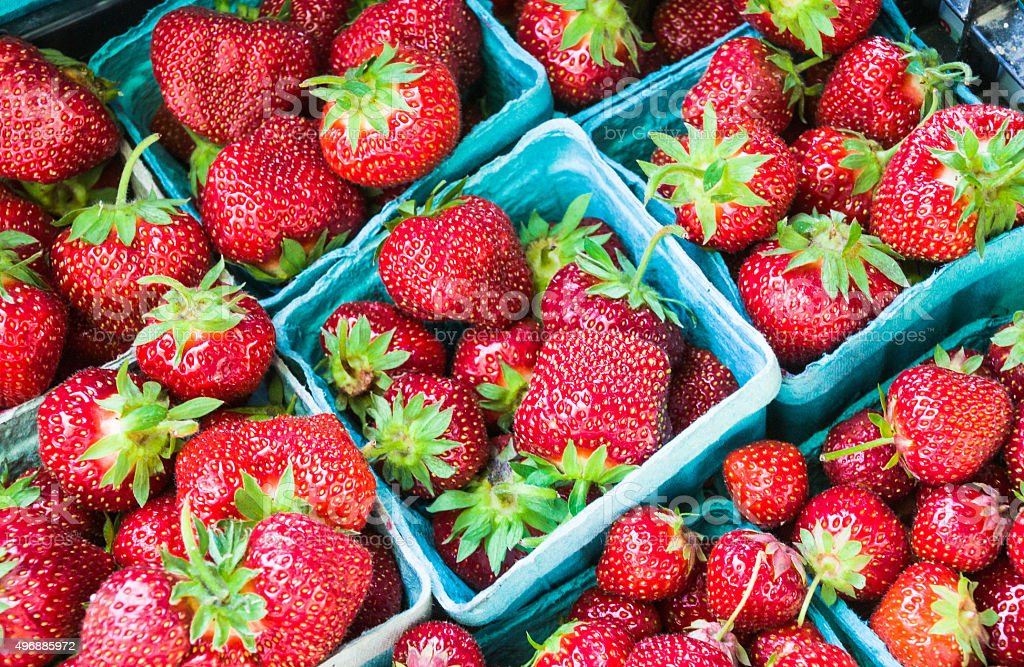 Juicy Red Strawberries stock photo