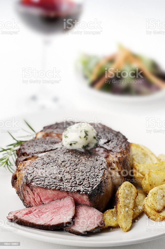 Juicy Ribeye Steak royalty-free stock photo