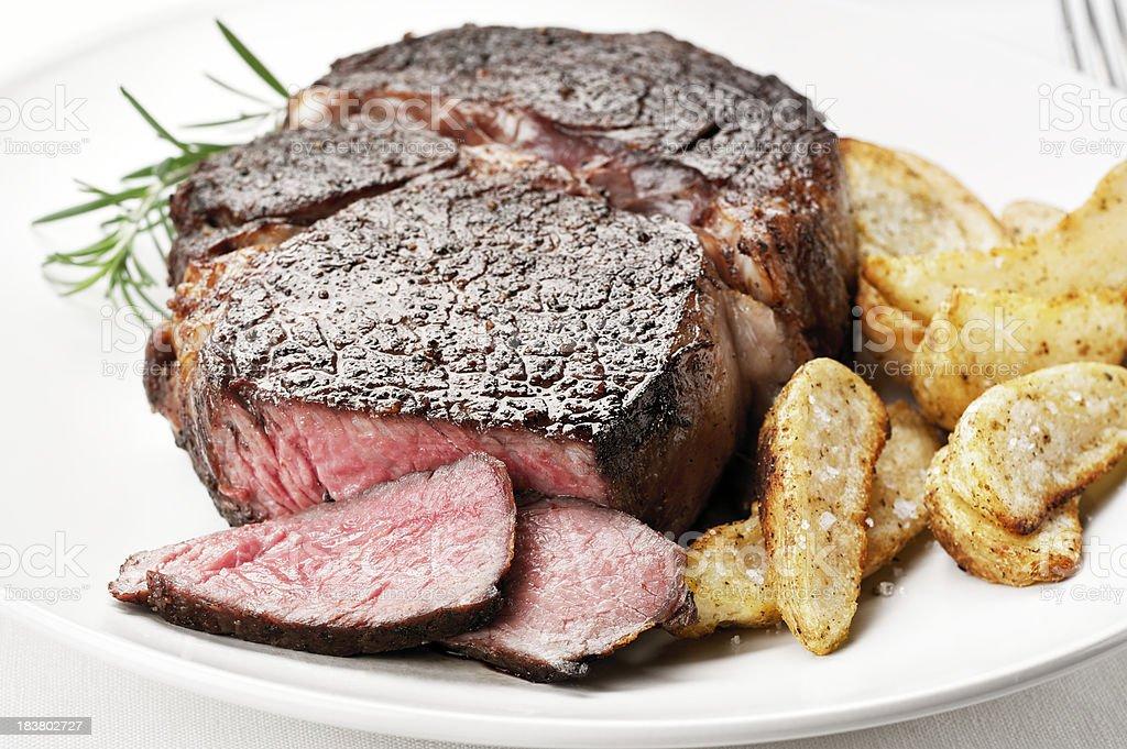 Juicy Ribeye Steak royalty-free stock photo
