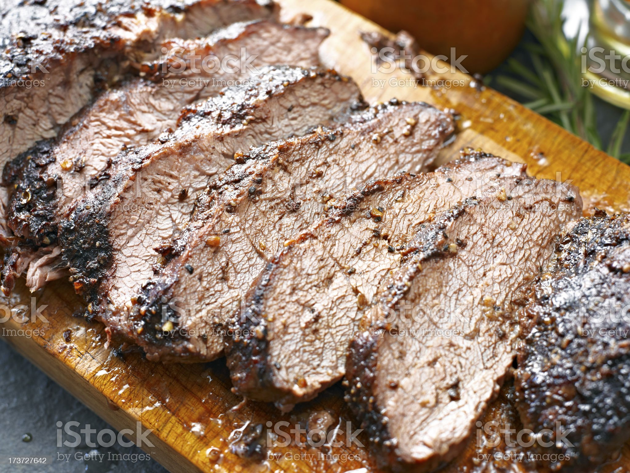 Juicy Roasted Beef royalty-free stock photo