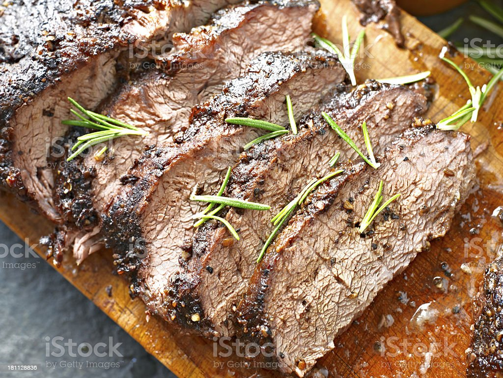 Juicy Roasted Beef royalty-free stock photo