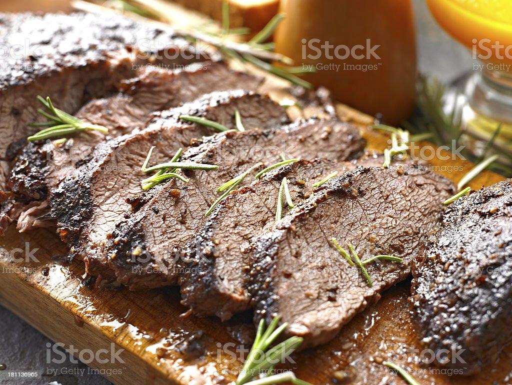 Juicy Roasted Beef stock photo