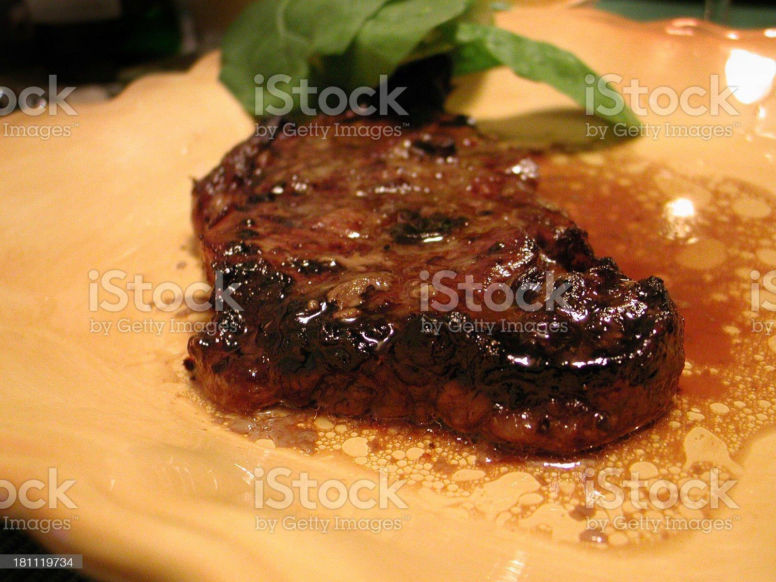 Juicy steak 2 royalty-free stock photo