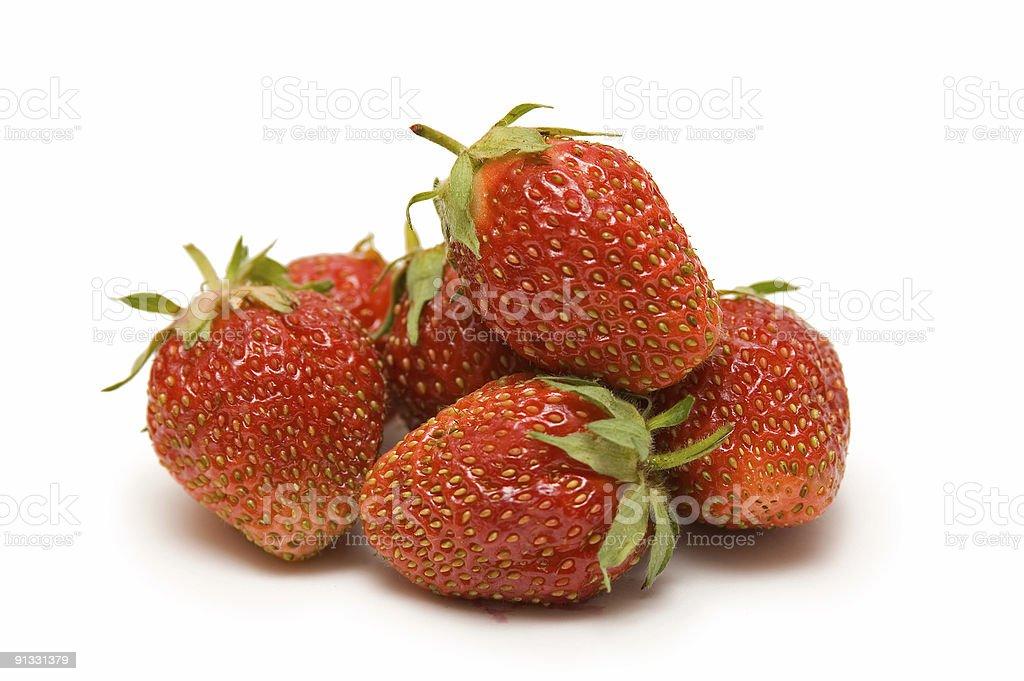 Juicy Strawberries royalty-free stock photo