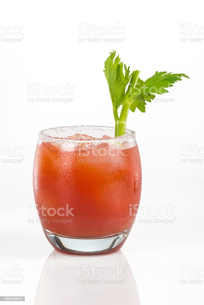 Juicy tomato cocktail called Clamato stock photo