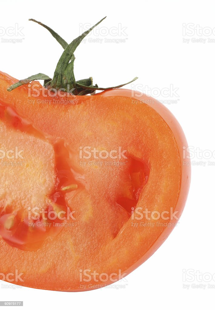 juicy vivid tomato profile on white royalty-free stock photo