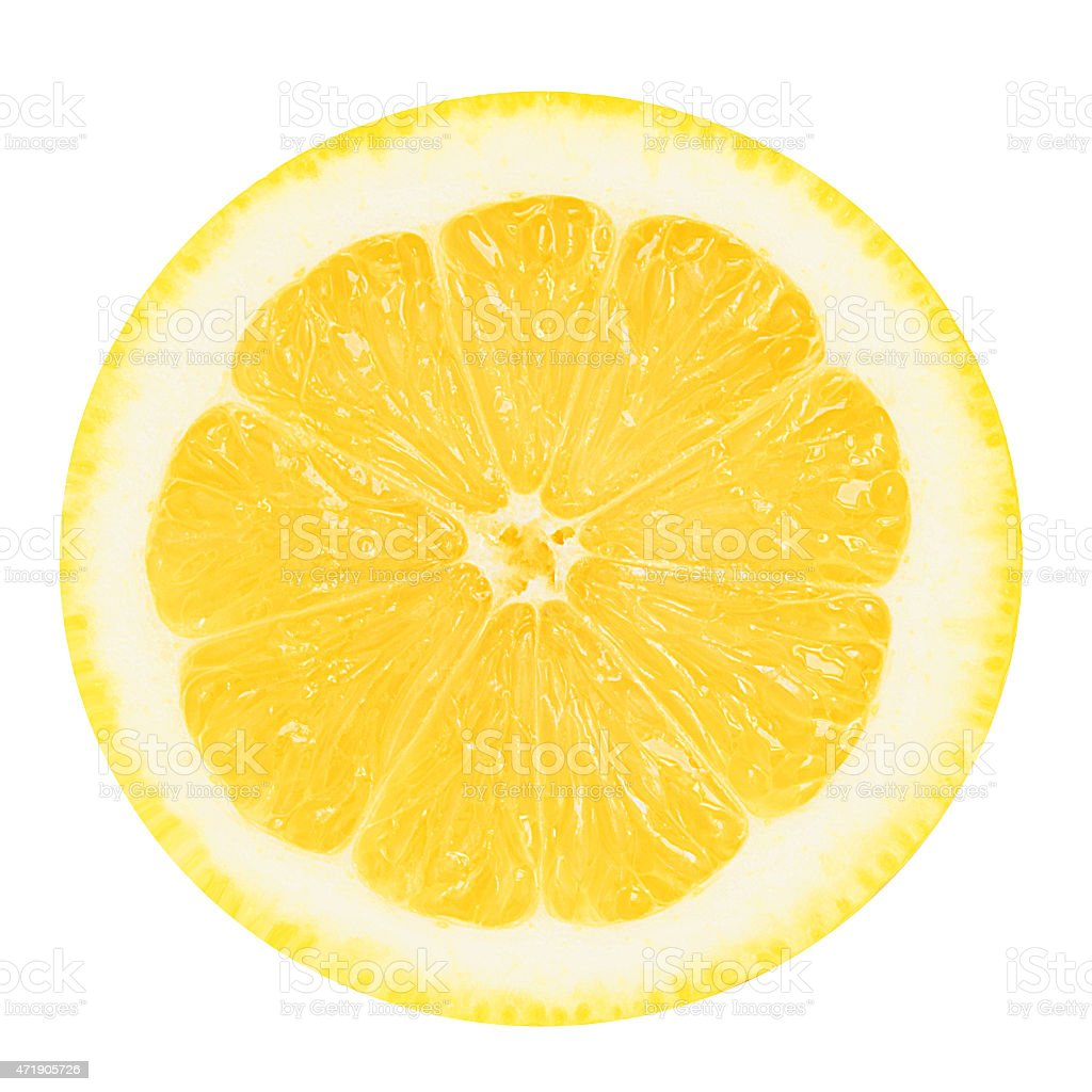 Juicy yellow lemon on a white background isolated stock photo
