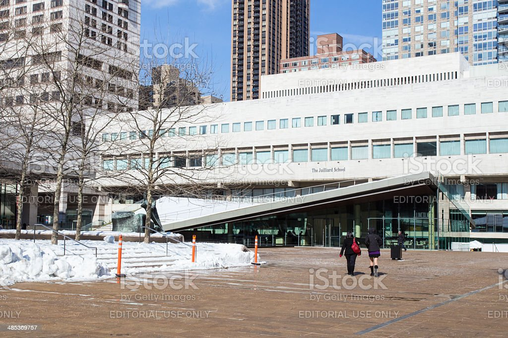 Juillard School NYC stock photo