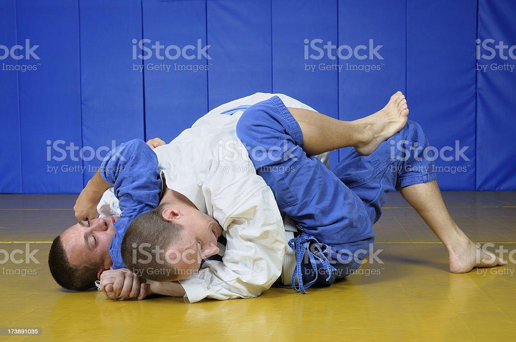 Jujitsu sparring martial arts stock photo