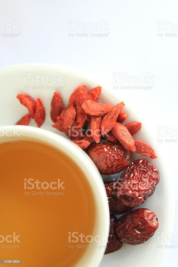 Jujube and Lycium tea stock photo