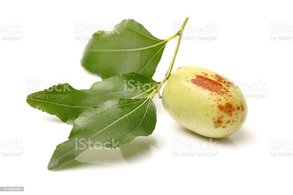 jujube fruit (or Chinese date or Ziziphus zizyphus ) stock photo