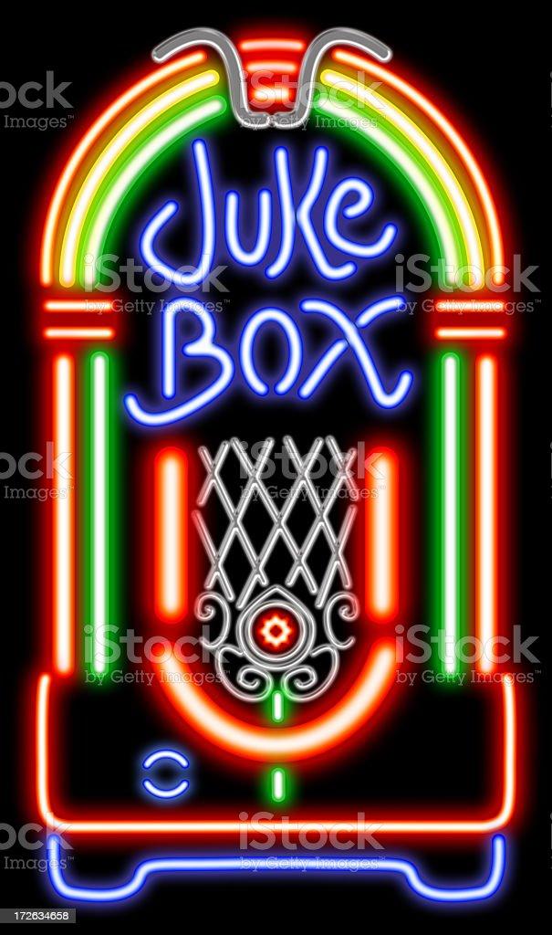 Juke Box neon stock photo