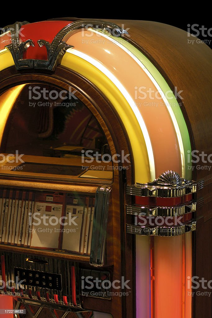 jukebox cutaway stock photo