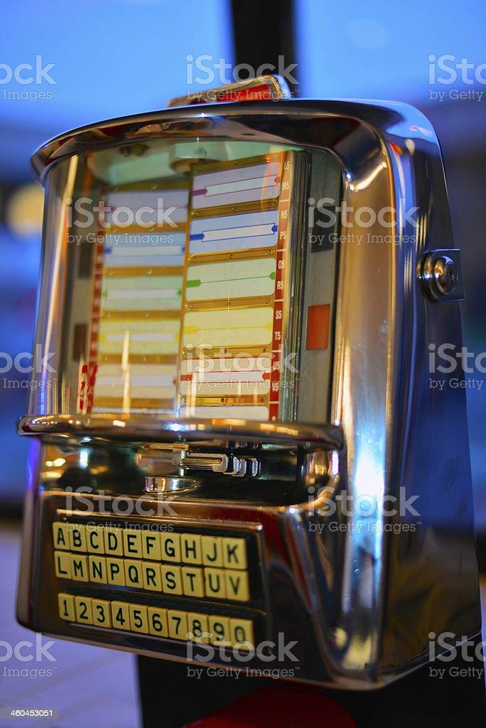 Jukebox in diner stock photo