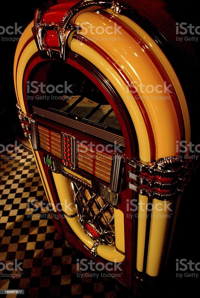 jukebox yellow stock photo