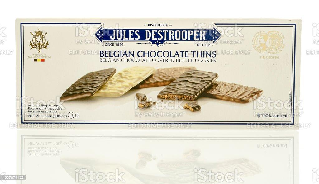 Jules Destrooper Thins stock photo