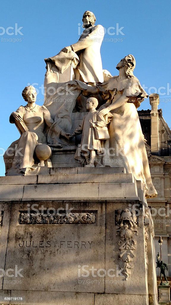Jules Ferry Statue in the Tuileries Gardens Paris France stock photo