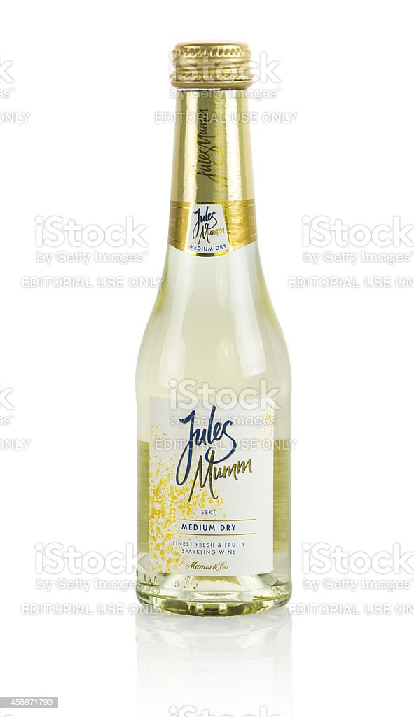 Jules Mumm champagne royalty-free stock photo