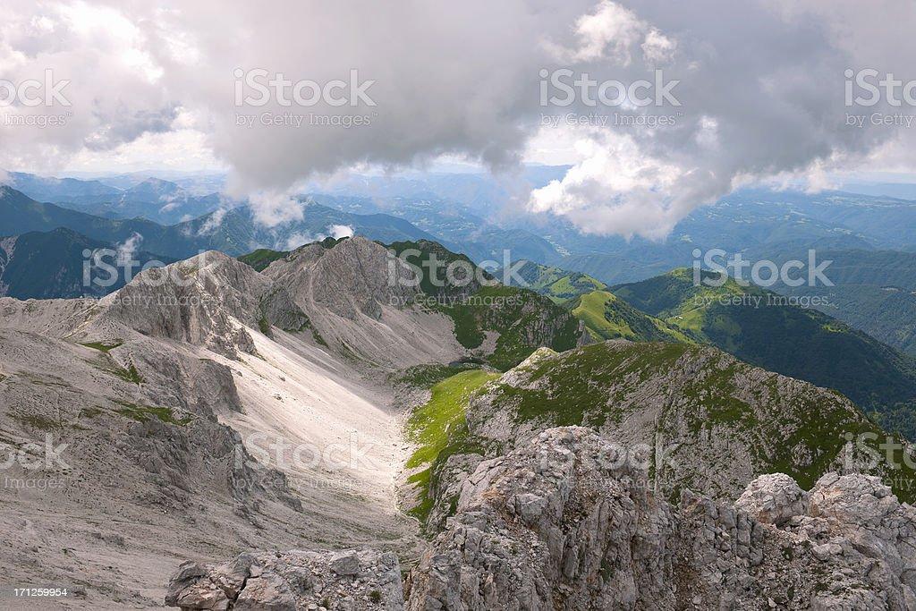 Julian Alps in Primorska Slovenia stock photo