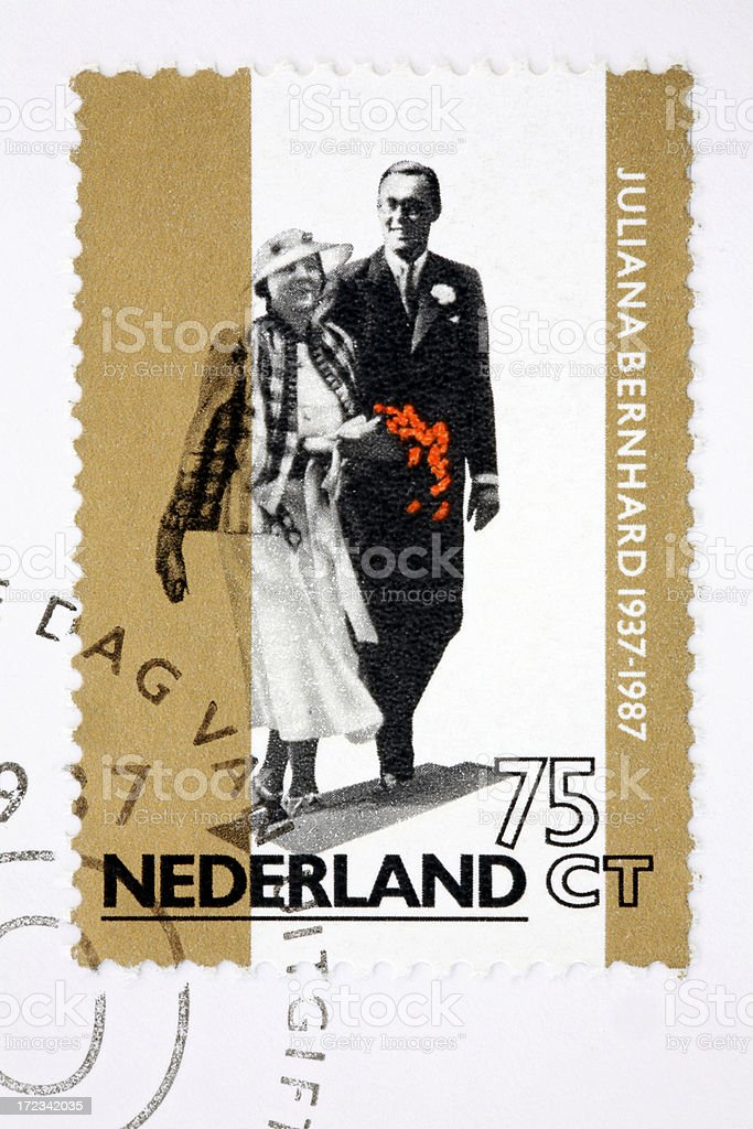 Juliana & Bernard of the Netherlands (XL) royalty-free stock photo