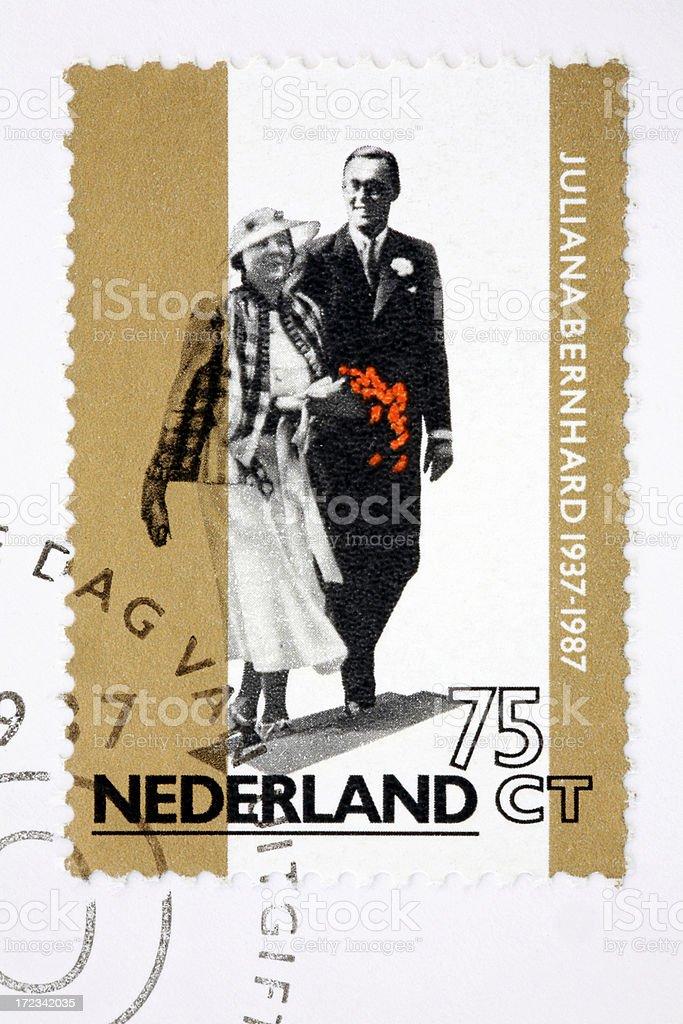 Juliana & Bernard of the Netherlands (XL) stock photo