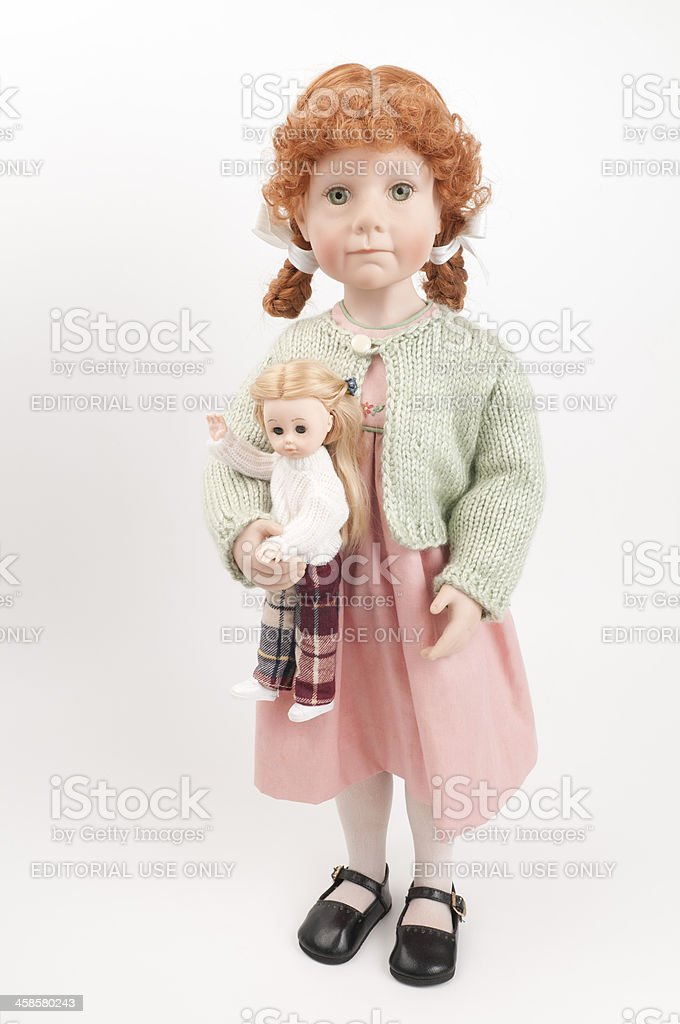 Julie Good Kruger Collectible with Her Own Doll stock photo