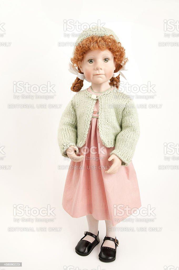 Julie Good Kruger Doll Standing, Pink Dress stock photo