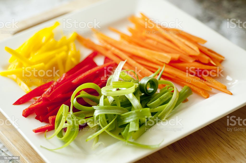 Julienned Vegetables royalty-free stock photo