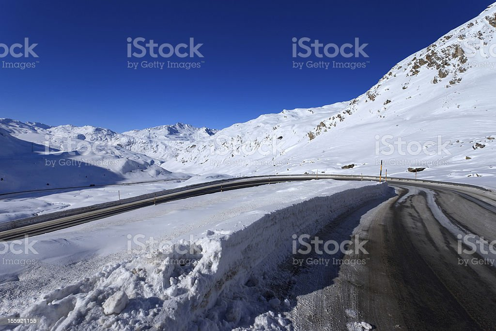 Julier Pass stock photo