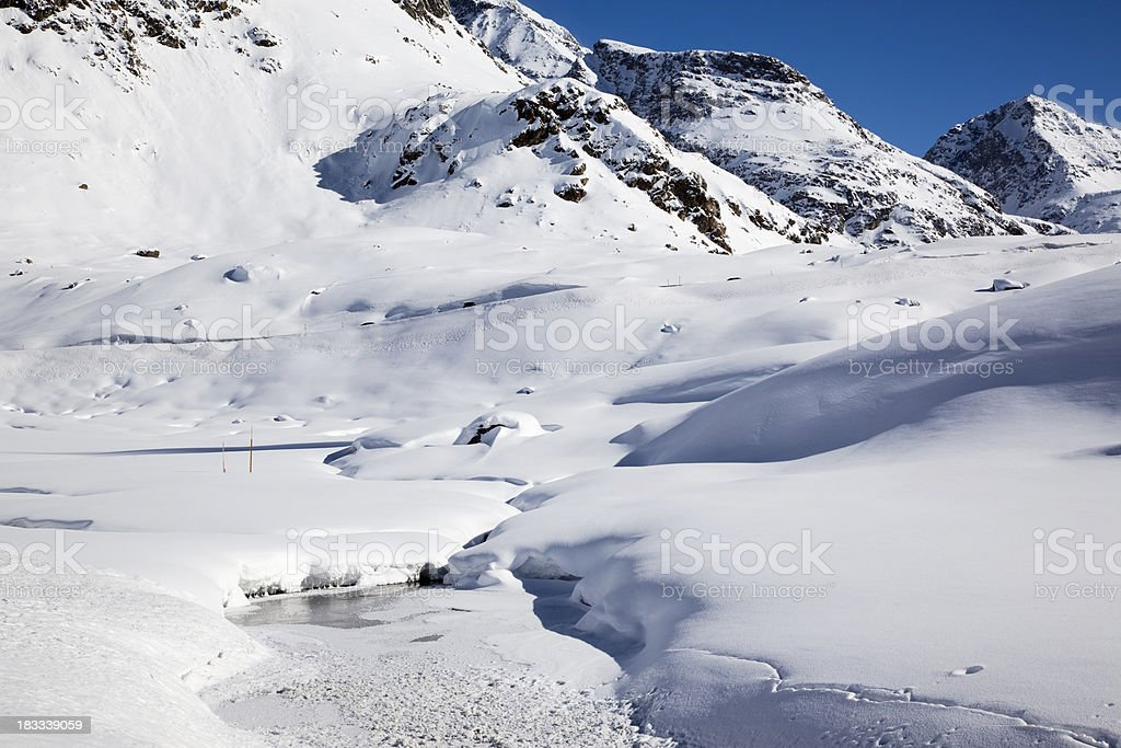 Julierpass royalty-free stock photo