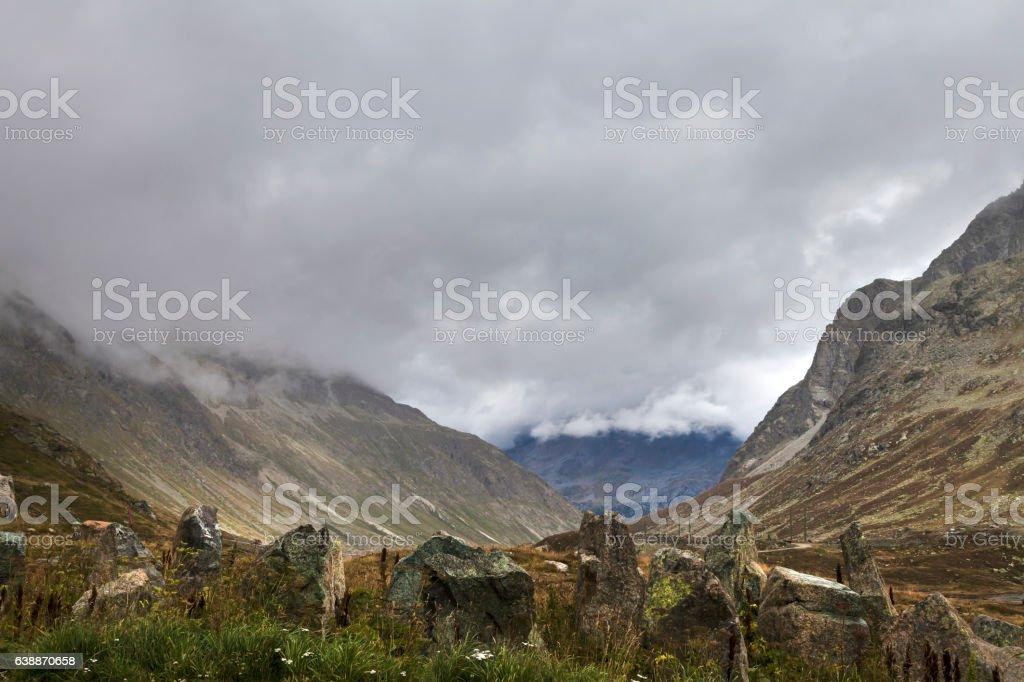 Julierpass stock photo