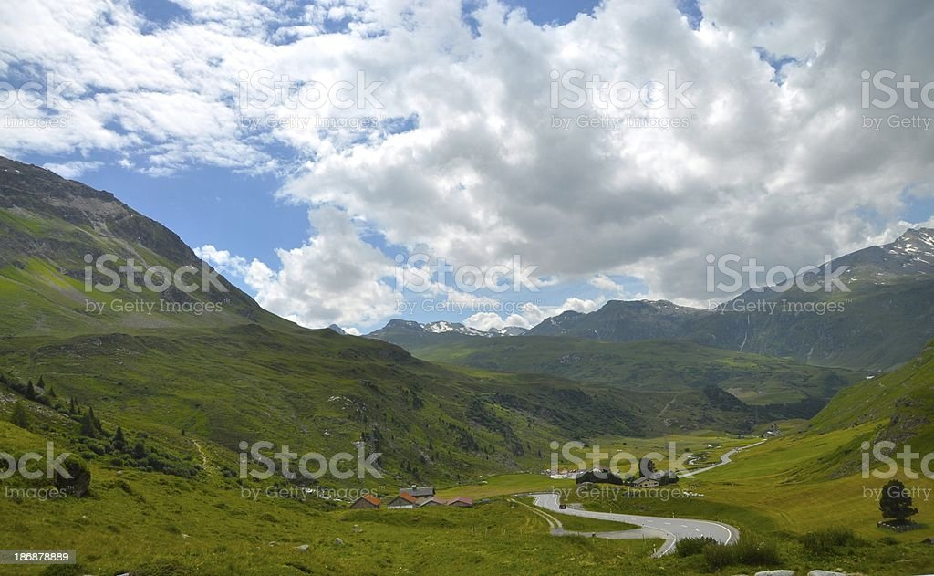 Julierpass Switzerland stock photo