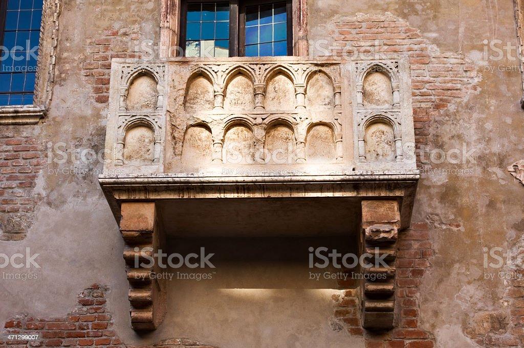 Juliet balcony, Verona, Italy royalty-free stock photo