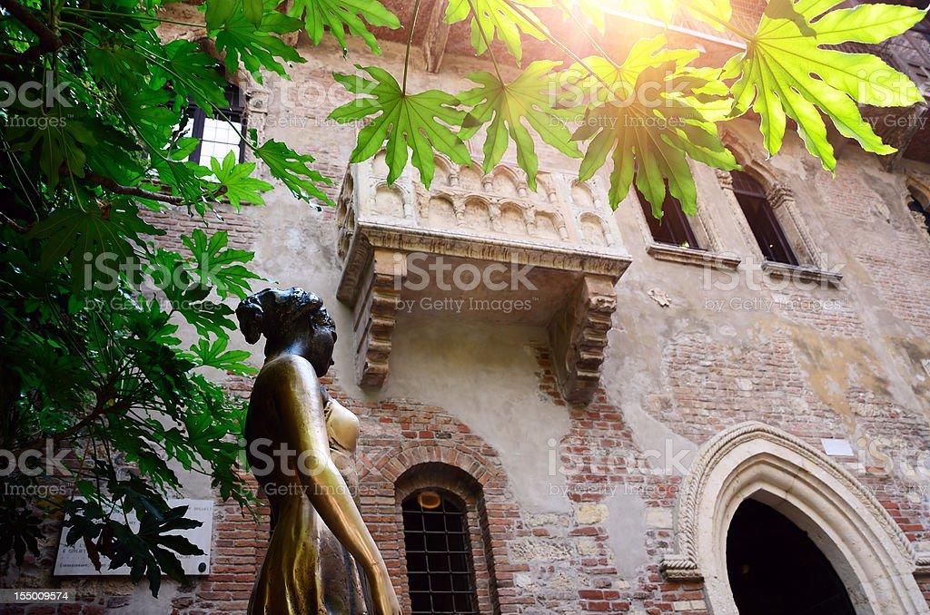 Juliet in Verona stock photo