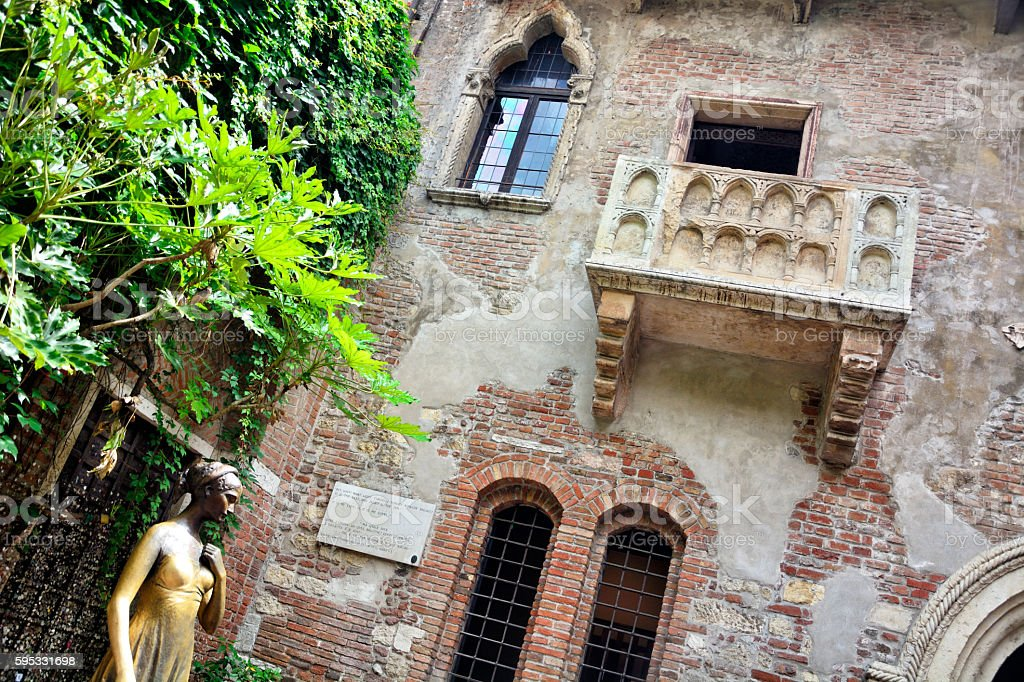 Juliet in Verona stock photo