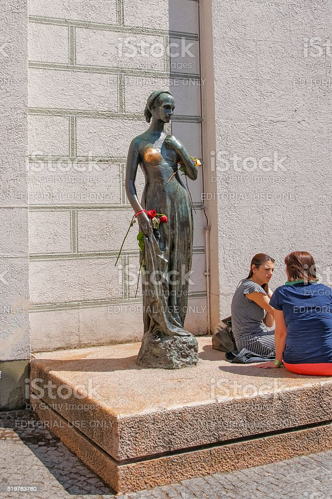 Juliet statue in Marienplatz in Munich in Germany stock photo