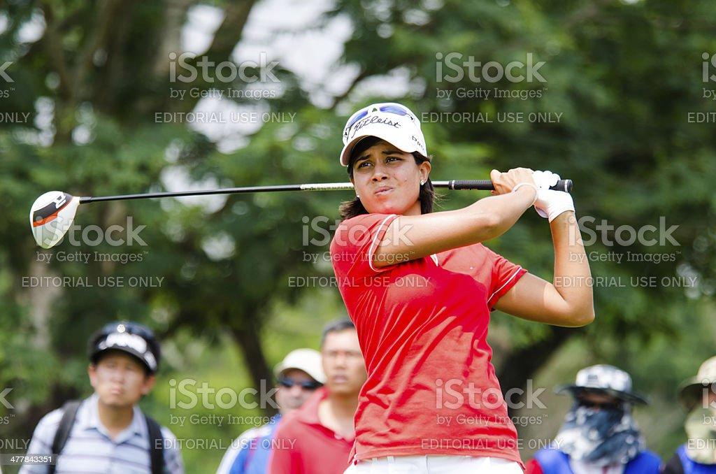 Julieta Granada at Honda LPGA Thailand 2014. stock photo