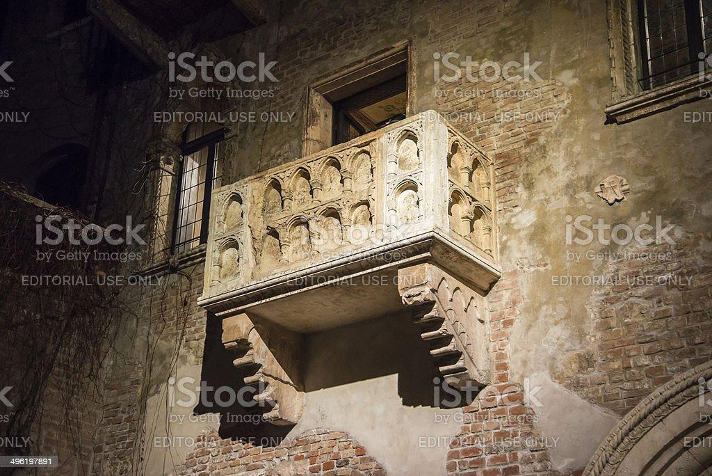 Juliet's balcony, Casa Di Giulietta, Verona, stock photo
