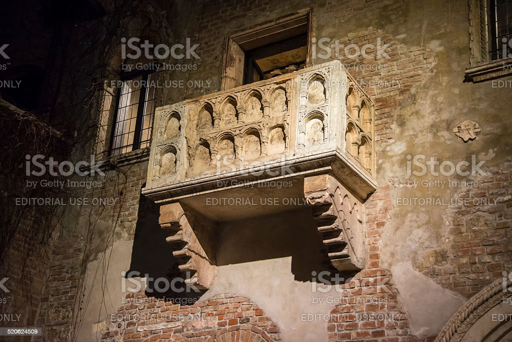 Juliet's balcony, Casa Di Giulietta, Verona, stock photo