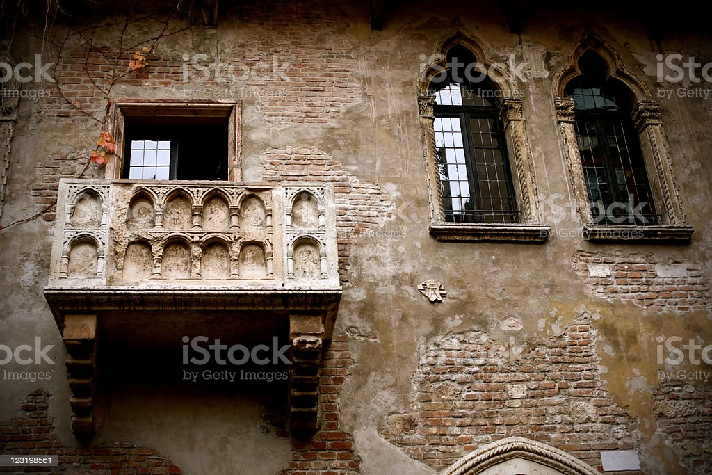 Juliet's Balcony royalty-free stock photo