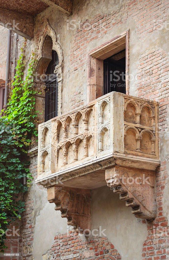 Juliet's balcony (Verona, Italy) stock photo