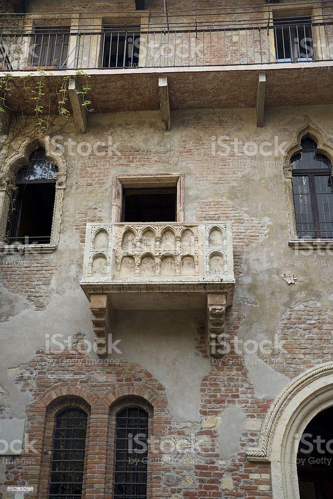 Juliet's Balcony stock photo