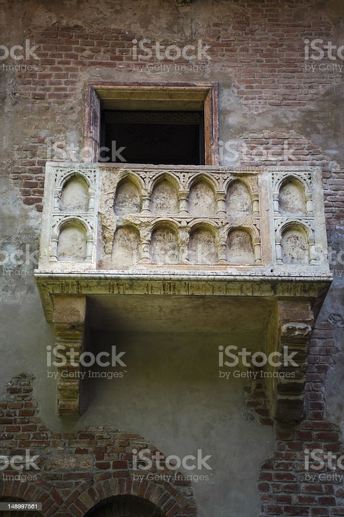 Juliet's balcony, Verona, Italy royalty-free stock photo