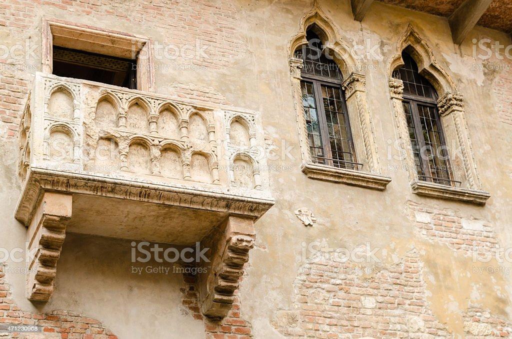 Juliet's balcony, Verona, Italy stock photo