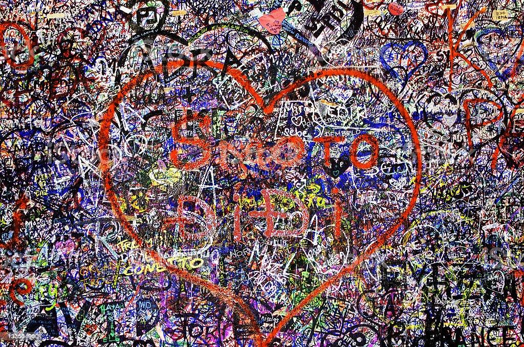 Juliet's Love Wall, Verona, Italy royalty-free stock photo