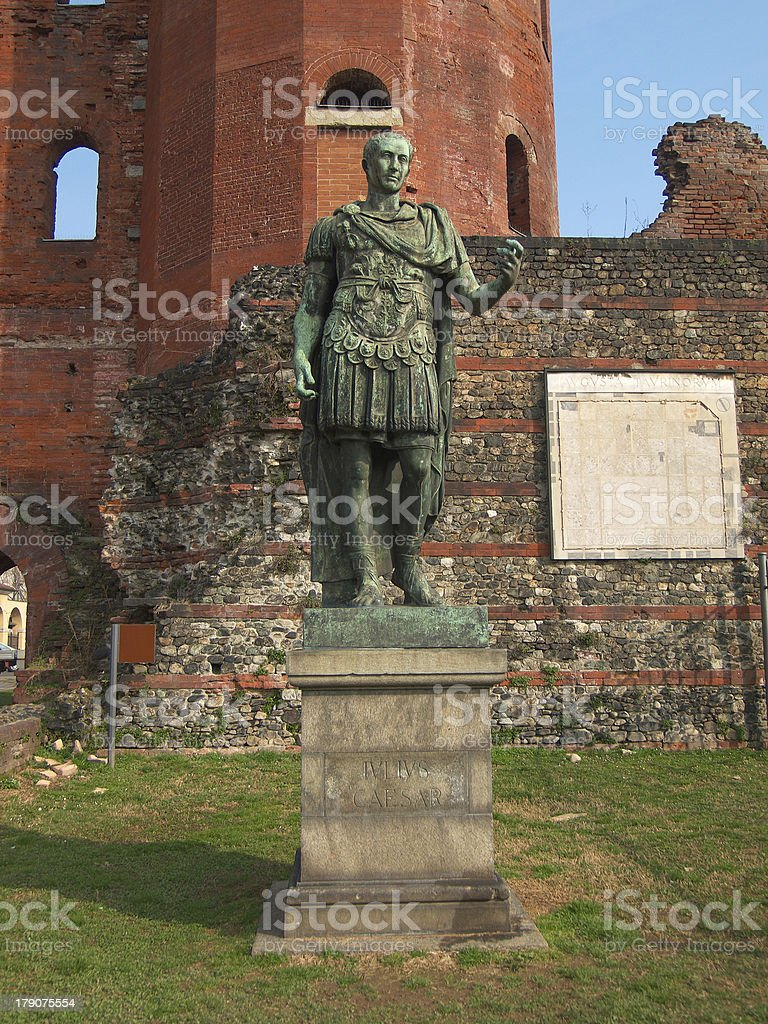 Julius Caesar statue royalty-free stock photo